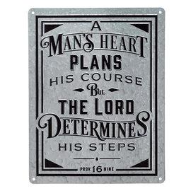 Metal Sign - A Man's Heart
