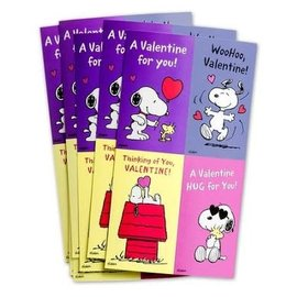Valentines - Peanuts w/Stickers & Teacher Card