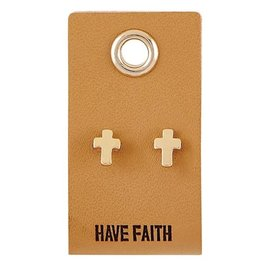 Earrings - Cross Studs, Have Faith