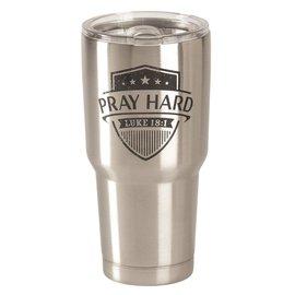 Stainless Steel Tumbler - Pray Hard