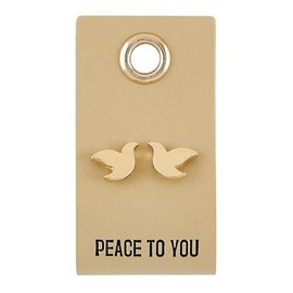 Earrings - Dove Studs, Peace to You