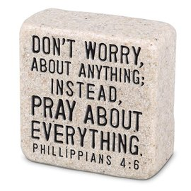Decor Block - Don't Worry, Stone