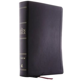 NIV Open Bible, Black Leathersoft, Indexed