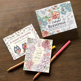 Coloring Cards - Colorful Blessings