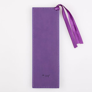 Bookmark - I Can Do All Things, Purple Faux Leather