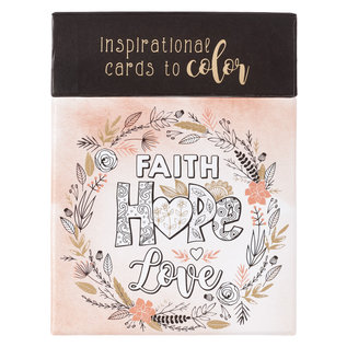 Coloring Cards - Faith Hope Love
