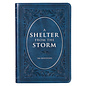 A Shelter from the Storm: 366 Devotions, Large Print Blue Faux Leather