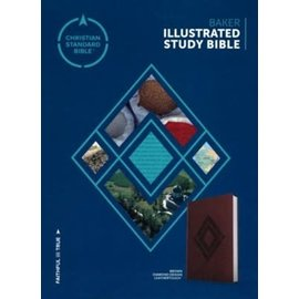 CSB Baker Illustrated Study Bible, Brown Diamond Design LeatherTouch
