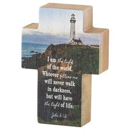 "Tabletop Cross - Lighthouse, 4"""