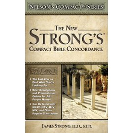Strong's Compact Bible Concordance, Paperback