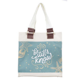 Tote Bag -  Be Still and Know, Canvas