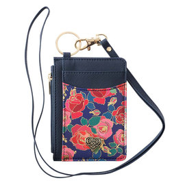 ID Card  Holder - Rose Heart, with Lanyard