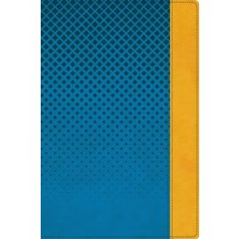 NIV Giant Print Compact Bible, Blue Leathersoft