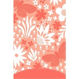 NIV Giant Print Compact Bible for Girls, Coral Leathersoft