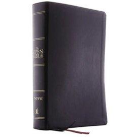 NIV Open Bible, Black Leathersoft