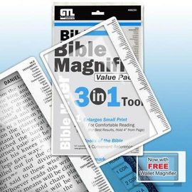 Magnifier - 3 in 1 Bible Magnifier Value Pack (6x9)