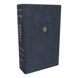 NIV Woman's Study Bible, Blue Leathersoft