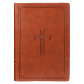 KJV Super Giant Print Reference Bible, Tan Faux Leather