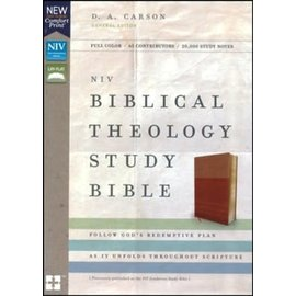 NIV Biblical Theology Study Bible, Tan/Caramel Leathersoft