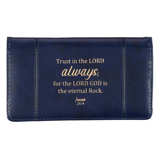 Checkbook Cover - Trust in the Lord, Navy