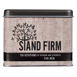 Stand Firm: 150 Devotional Cards for Me, Tin