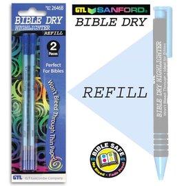 Highlighter - Bible Dry - Blue Refill (2-pack)