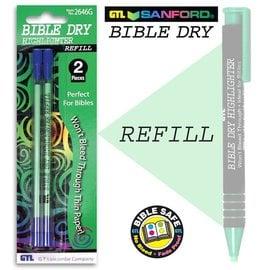 Highlighter - Bible Dry - Green Refill (2-pack)