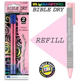 Highlighter - Bible Dry - Pink Refill (2-pack)