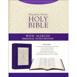 KJV Holy Bible, Wide-Margin Personal Notes Edition, Lavender Plume Leathersoft