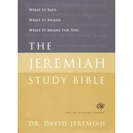 ESV The Jeremiah Study Bible, Hardcover