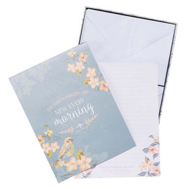 Writing Set - The Lord's Mercies are New, Paper & Envelopes