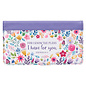 Checkbook Cover - I Know the Plans, Purple Floral