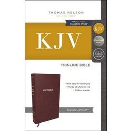 KJV Thinline Bible, Burgundy Leathersoft