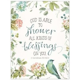 Note Cards - God is Able to Shower All Kinds of Blessings on You