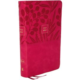 NKJV Large Print Personal Size Reference Bible, Pink Leathersoft, Indexed