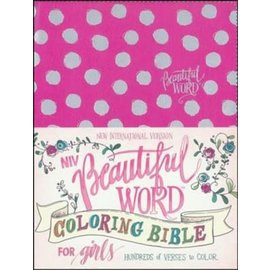 NIV Beautiful Word Coloring Bible for Girls, Pink Leathersoft
