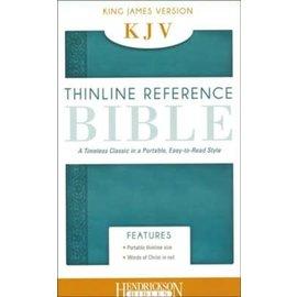KJV Thinline Reference Bible, Aqua Leathersoft