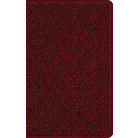 ESV Large Print Value Thinline Bible, Ruby Red Vine Design TruTone
