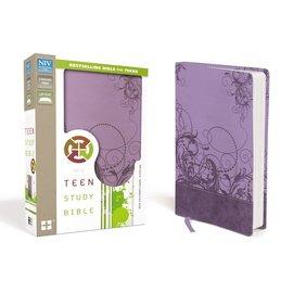 NIV Teen Study Bible, Purple Leathersoft