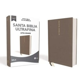 NBLA Santa Biblia Ultrafina, Letra Grande, Gray Leathersoft