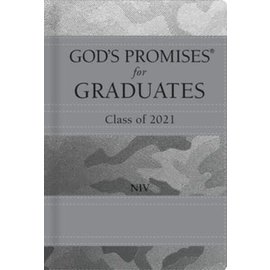 NIV God's Promises for Graduates: Class of 2021, Gray Camo Hardcover