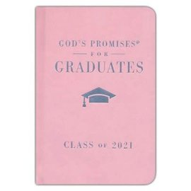 God's Promises for Graduates: Class of 2021, Pink Hardcover