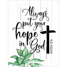 Pallet Art - Hope in God (9x12)