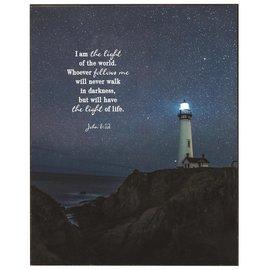 Wall Art - Lighthouse, John 8:12