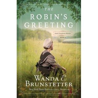 Amish Greenhouse Mystery #3: The Robin's Greeting (Wanda Brunstetter), Paperback
