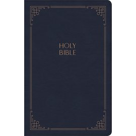 KJV Large Print Personal Size Reference Bible, Navy Leathersoft