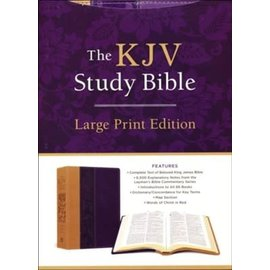 The KJV Study Bible, Large Print Edition, Purple Leathersoft