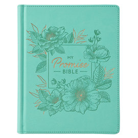 KJV My Promise Bible, Teal Faux Leather Hardcover