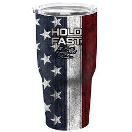 Stainless Steel Tumbler - Hold Fast, American Flag