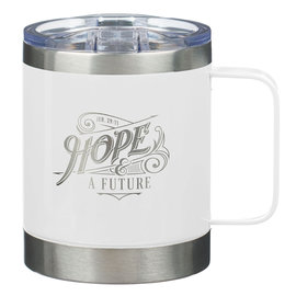 Stainless Steel Mug - Hope & and a Future, White Camp Style